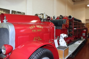 A great antique fire truck at the Fireman's Museum in New Bern, NC.