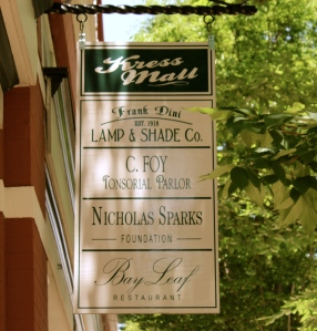 Great wooden sign in downtown New Bern.